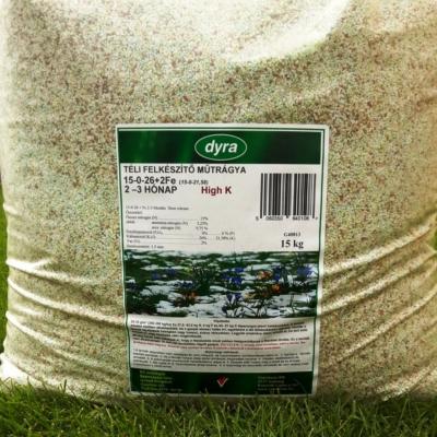 DYRA High K őszi, téli felkészítő gyeptrágya 15kg