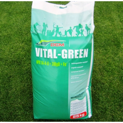 DCM VITAL GREEN tavaszi szerves gyeptáp (25 kg)