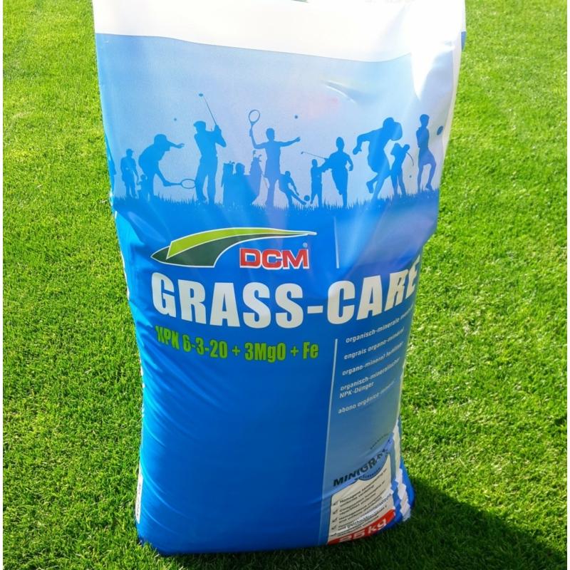 DCM GRASS-CARE felkészítő gyeptrágya 25kg
